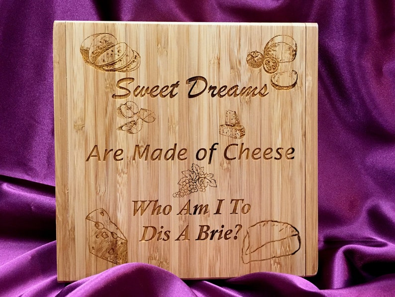 Custom Cheese Board With Tools Engraved Wedding Gift image 0