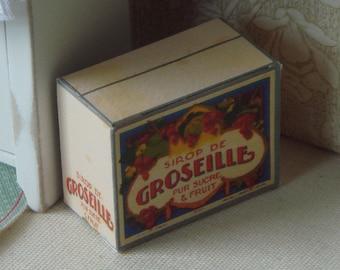 1//12 Scale-Caja De Antiguo Jamaica para Dollshouse Dulces tiendas