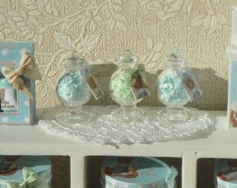 Dollhouse Miniature Glass Bottle of  French Bath Salts