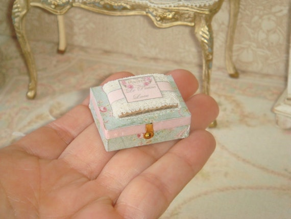 Dollhouse Miniature Wood Handcrafted Store right inside corner Counter 1:12