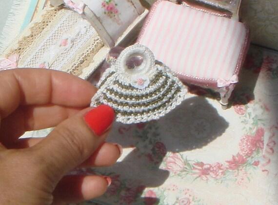 Puppenhaus Häkeln Damenhandtasche Stickerei Einkaufen