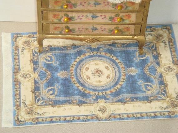 Alfombra de casa de muñecas victoriana. 1:12 tapetes de casa