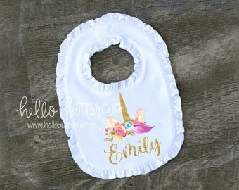 First Birthday Outfit Girl Personalized Bib Cake Smash Girls 1st