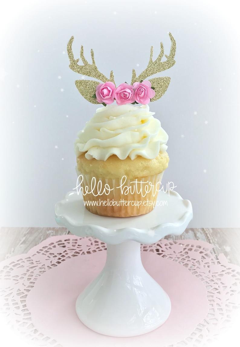 Antler Cupcake Toppers Cake topper Cake Smash prop First ...