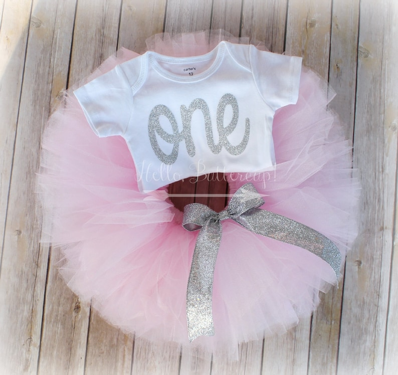 Baby Girl Cake Smash Photoshoot 1st One Birthday Tutu Romper Costume Dress Prop Jade White Baby & Toddler Clothing