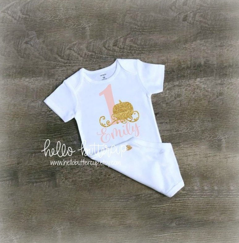 c6383f446d4a8 First Birthday outfit girl, Personalized Girls first birthday outfit ...