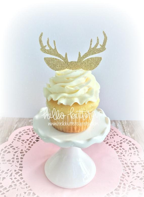 Antler Cupcake Toppers Cake topper Cake Smash prop First | Etsy