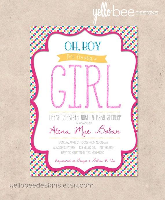 Oh boy its finally a girl baby shower invitation etsy image 0 filmwisefo