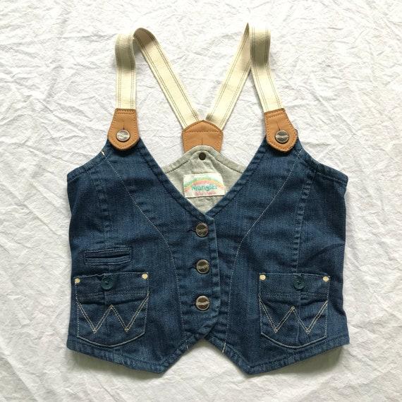 Vintage Women's Wrangler Cropped Denim Vest // Ela