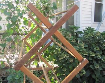 Wooden drying rack