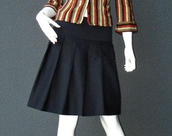 Skirt pleated skirt pleated skirt black with black lining