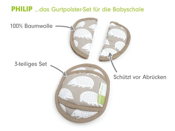 weich /& bequem Made in EU 100/% Baumwolle Priebes PHILIP Gurtpolster f/ür Babyschale Design:Piraten waschbar bei 30 Grad praktischer Gurtschoner