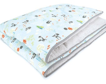 Love of Priebes, crawling blanket, cuddly blanket, baby blanket, cotton, ALADIN, foxes