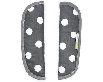 Love of Priebes, belt pads, belt pads, for the stroller belt, buggy belt, AUGUST, polka anthra