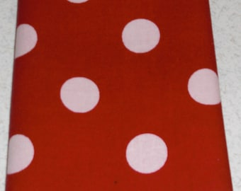 "11"" x 11"" Red and White Polka Dot Pocket Square"