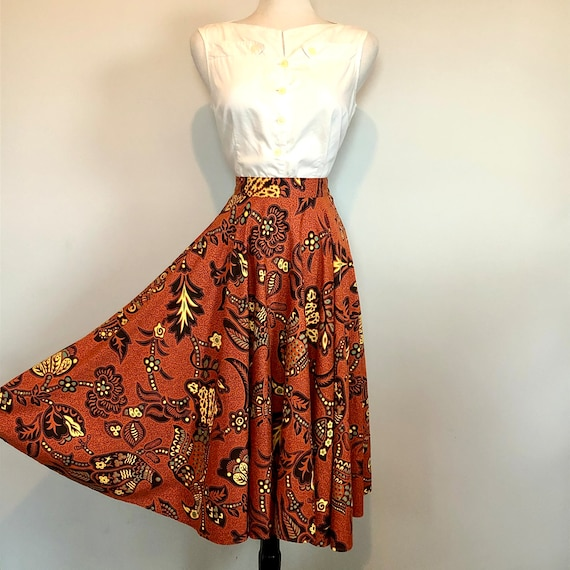 Gorgeous Vintage 1950's Butterfly Novelty Print S… - image 5