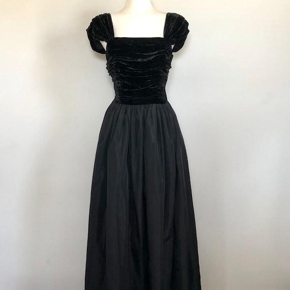 "Vintage 1940's Velvet & Tafeta Ball Gown Sz 26"""