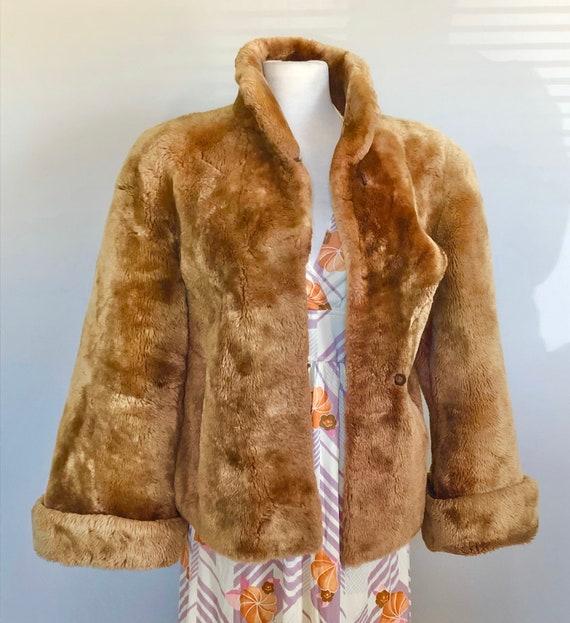 """Vintage 30's 40's Teddy Bear Swing Coat Sz 36"""" B"""