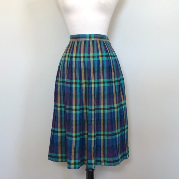 Vintage 1950'S Alex Coleman Wool Purple Plaid Plea