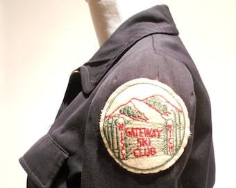 Beautifully Fitted Gateway Ski Club Wool Ski Jacket, c. 1940