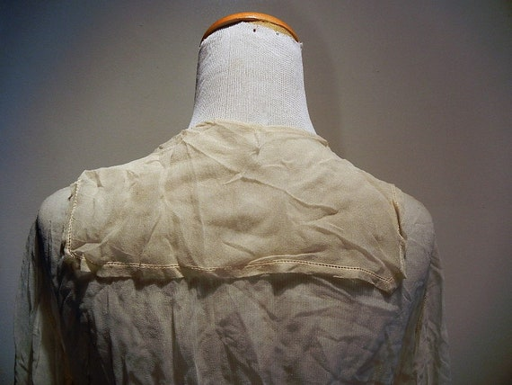 Antique Edwardian Embroidered & Beaded Silk Blous… - image 10