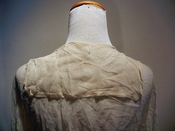 Antique Edwardian Embroidered & Beaded Silk Blous… - image 7