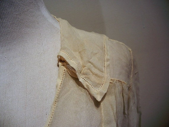 Antique Edwardian Embroidered & Beaded Silk Blous… - image 5