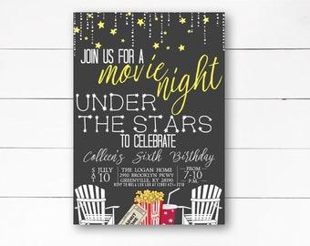 stars invitation etsy