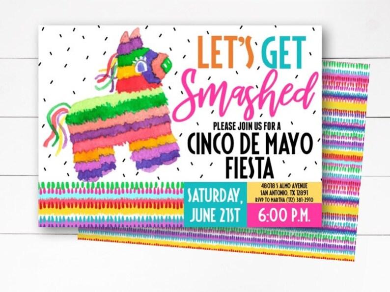 Cinco de Mayo Invitation, Cinco de Mayo Invite, Fiesta Invitation, Cinco de  Mayo Party, Fiesta Party, Fiesta Theme, Party, DIY or Printed