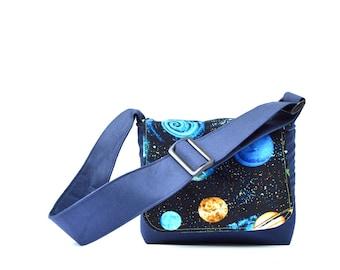Kids Bag, Toddler Messenger Bag, Toddler Bag, Outer Space, Boys Bags, Space Gifts, Toy Bag, Little Bag, Childs Messenger Bag