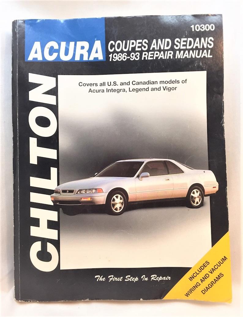 Repair Manuals & Literature Auto Parts & Accessories 1986-1993 ...