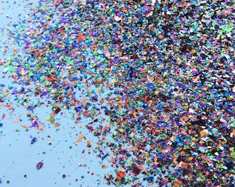 Over The Rainbow Glitter Mix- Solvent Resistant  - Nail Glitter - SAMPLE to 2 oz
