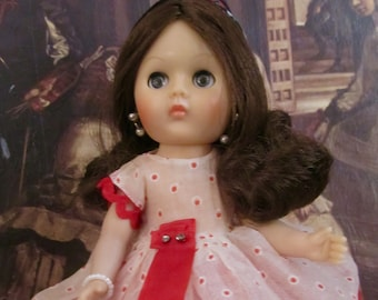 Vintage Vogue Ginny Doll In An Original Amanda Jane Outfit With Tag Made In England