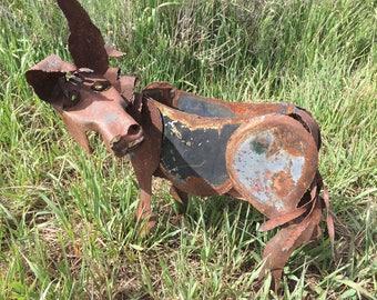 Rustic Horse Planter/Magazine Rack