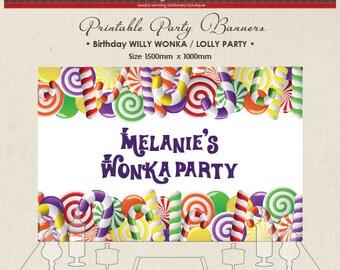 Willy Wonka Banner