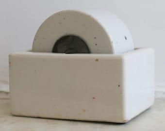 Vintage Ironstone Stamp Roller, Ideal Stamp Moistener, Findlay Ohio