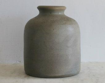 Antique Stoneware Crock, Primitive Salt Glaze, Canning, Fermenting, Preserving Jar, Excellent Condition