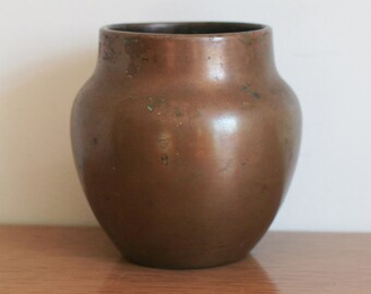 Vintage Charles Walter Clewell Rare Signed Copper Pot, Vase, Art Pottery, 1930s
