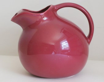 Vintage Ball Pitcher, Jug, Pottery, Unmarked Hall Round Ball