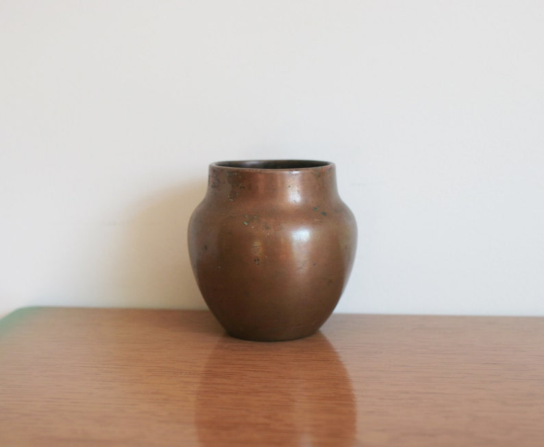 Vintage Charles Walter Clewell Rare Signed Copper Pot Vase image 0