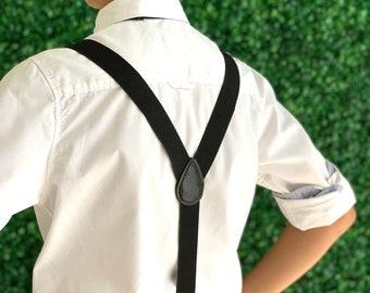 Black Adjustable Suspenders Y-Back  Suspenders  6 months - ADULT  Mens Baby Boys Kids Children Adult Suspenders