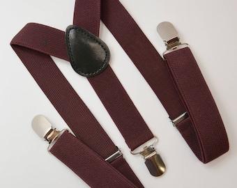 Mens ADULT Wedding Vintage Style Coffee Rustic Brown Caramel Brown Black Pu Leather Suspenders Y-Back Kids Boys 1Years