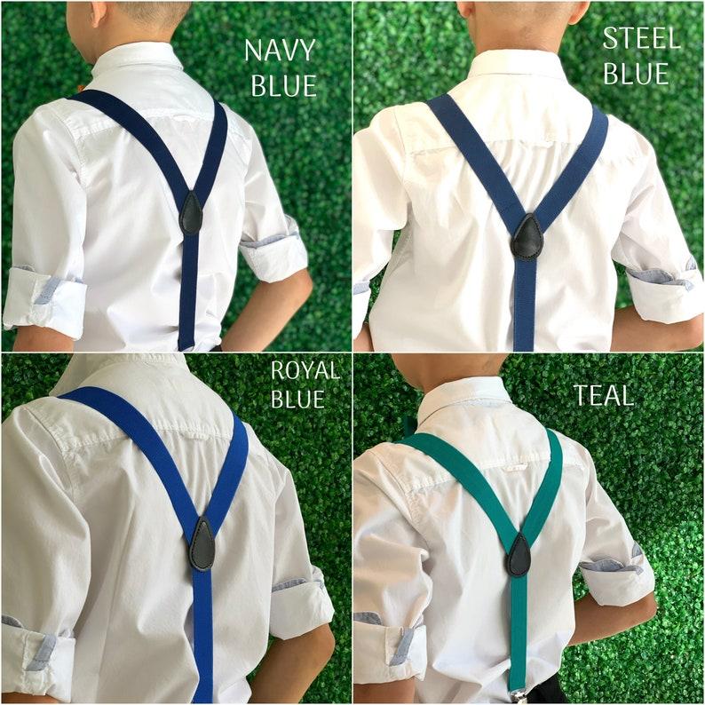 Adjustable Y Back Suspenders / 6 months   ADULT Baby Boys image 0