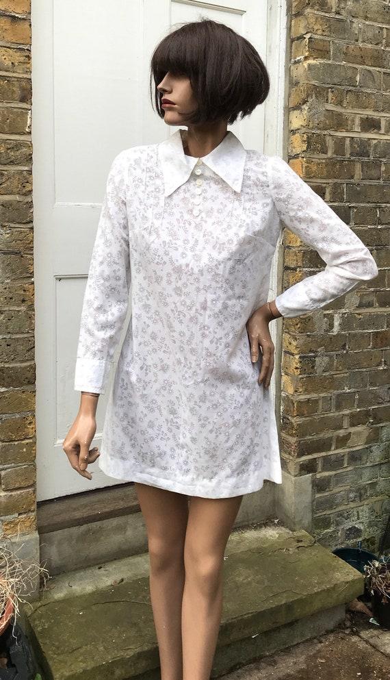"""Jeff Banks 60s boutique mini dress """"Clobber"""" label"""