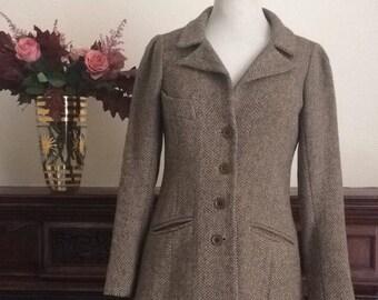 Original Biba 1960s jacket herringbone tweed