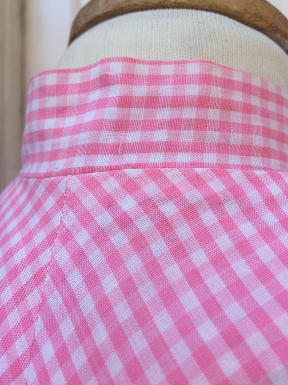 Pretty pink 50s gingham dress - image 6