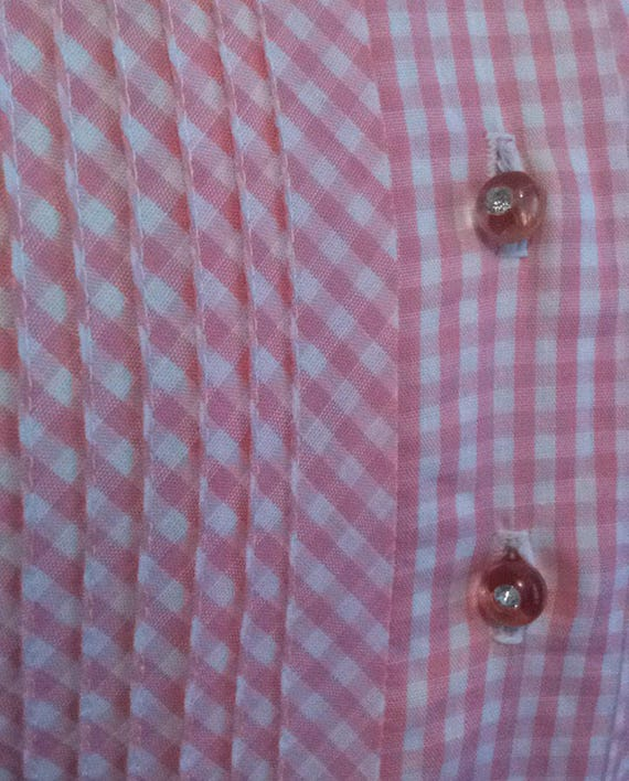 Pretty pink 50s gingham dress - image 4