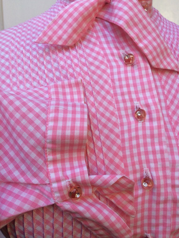 Pretty pink 50s gingham dress