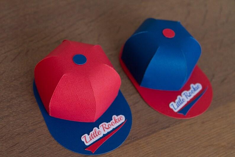 Set of 6 Small baseball hats favor boxes