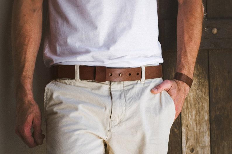 Leather Belt Belt without buckle image 0